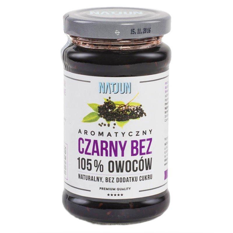 Konfitura czarny bez bez dodatku cukru 105% owoców Natjun, 220g