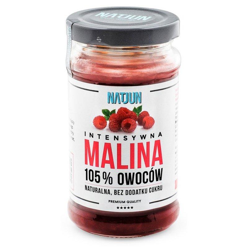 Konfitura malina bez dodatku cukru 125% owoców Natjun, 240g