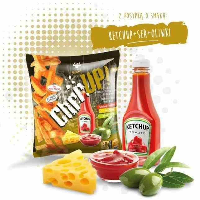 ChrrUp - chrupiąca przekąska z pieczywa pszennego o smaku ketchupu, 50g
