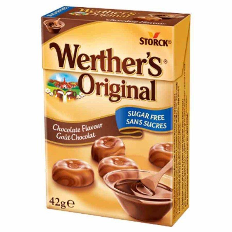 Karmelki o smaku czekoladowym bez cukru Werther's Original, 42g