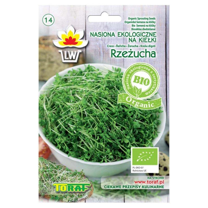 Nasiona ekologiczne na kiełki - Rzeżucha, P.N. Toraf BIO, 20g