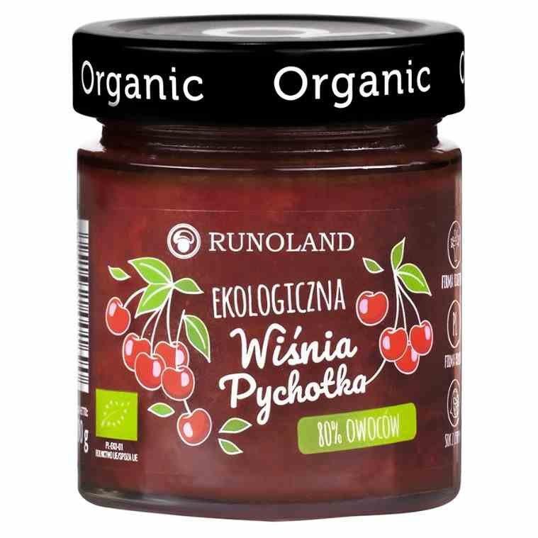 Pychotka wiśniowa 80% owoców o konsystencji konfitury Runoland BIO, 200g