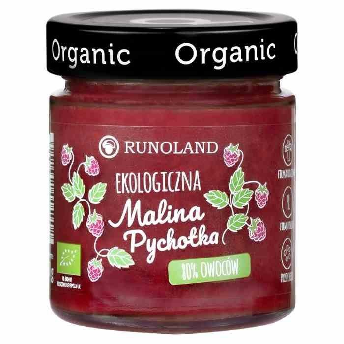 Pychotka malinowa 80% owoców o konsystencji konfitury Runoland BIO, 200g