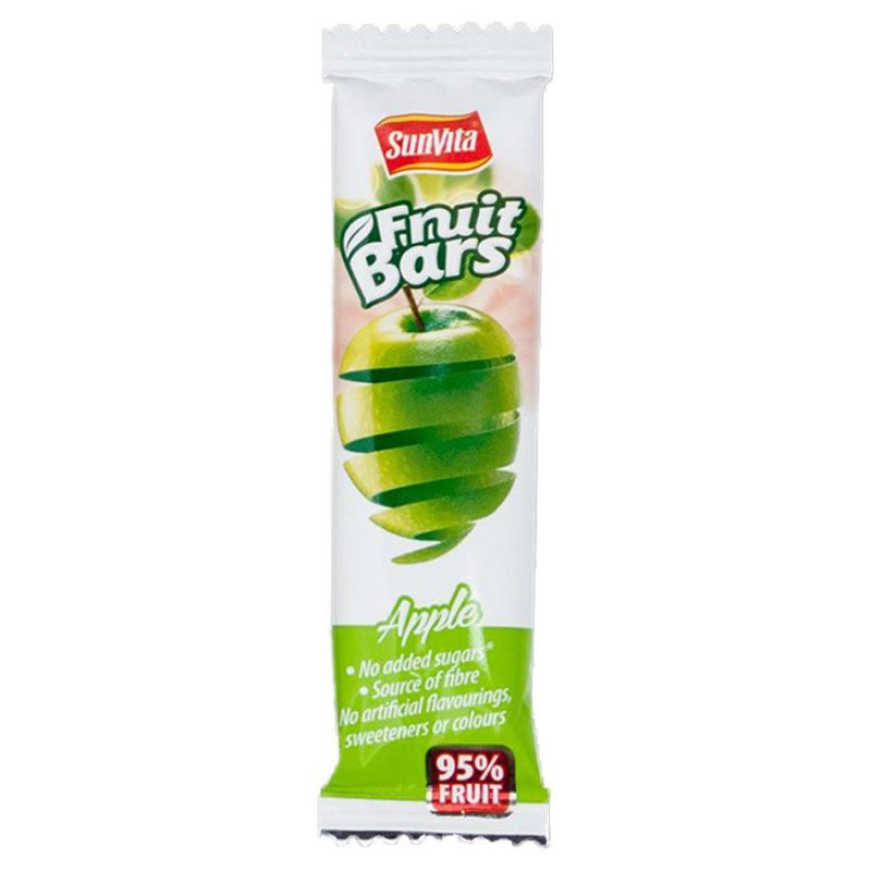 Baton owocowy bez dodatku cukru - Jabłko Sunvita, 20g