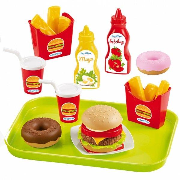 Ecoiffier Zestaw Fast Food 25 akcesoriów