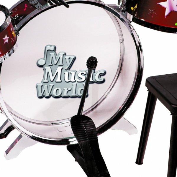 Simba Perkusja Zestaw Bębny Werble Krzesełko