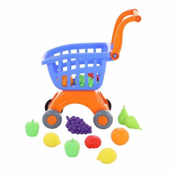 Wózek Koszyk Sklepowy Na Zakupy z Akcesoriami