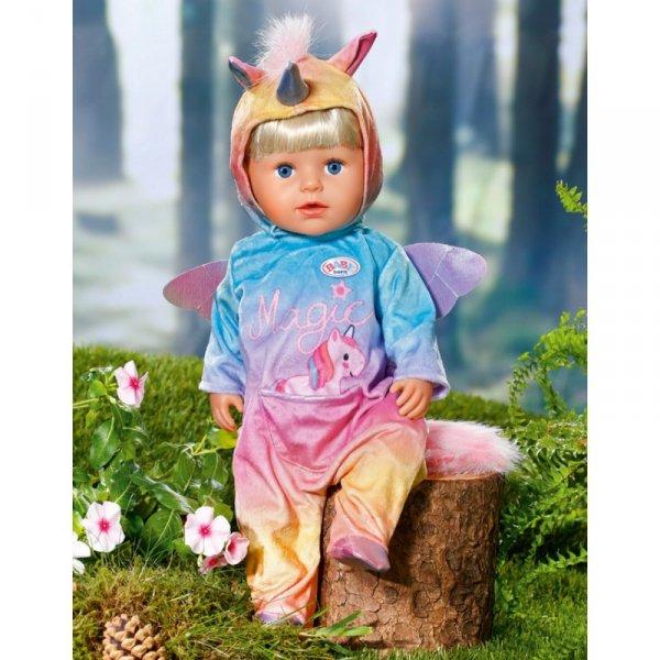 BABY BORN Tęczowa Piżamka Jednorożec Dla Lalki 43 cm