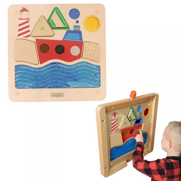 MASTERKIDZ Tablica Edukacyjna Sensoryczna Żeglowanie Ocean