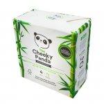 Cheeky Panda, Papier toaletowy 4 rolki - opakowanie papierowe PLASTIC FREE