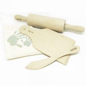 Ailefo, Zestaw drewnianych narzędzi kuchennych w bawełnianym worku