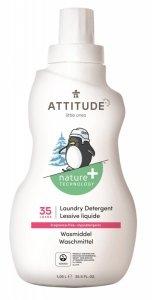 Attitude, Płyn do prania ubranek dziecięcych, Bezzapachowy (fragrance free), 35 prań, 1050 ml
