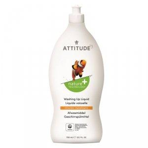 Attitude, Płyn do mycia naczyń, Skórka Cytrynowa (Citrus Zest), 700 ml