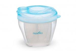 Nuvita, Pojemnik na mleko, 4 przegródki, Pastel Blue