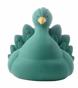 Natruba, Naturalny gryzak, zabawka do kąpieli, Paw zielony