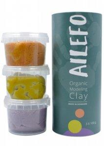 Ailefo, Organiczna ciastolina, forest colors, mini tuba 3 kolory po 100 g