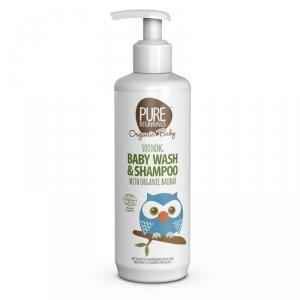 Pure Beginnings Organic Baby, Łagodzący żel do mycia ciała i szampon 2w1 z organicznym Olejem z Baobabu, 250ml