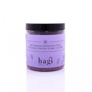 Hagi, Naturalny scrub do ciała z pestek śliwki i olejem jojoba, 400g