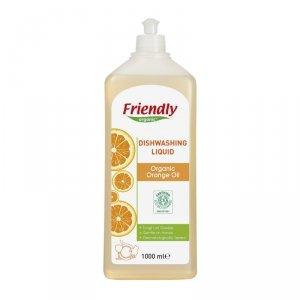 Friendly Organic, Płyn do mycia naczyń Pomarańczowy, 1000 ml