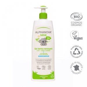 Alphanova Bebe, Dermo - Żel do Mycia ciała i włosów, 500ml