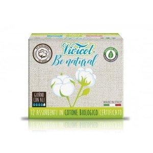 Podpaski NA DZIEŃ ze skrzydełkami niebielone chlorem z CERTYFIKOWANEJ bawełny organicznej 12 sztuk