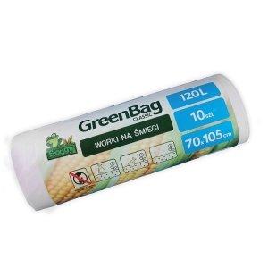Worki 120L 100% biodegradowalne i kompostowalne rolka 10 sztuk