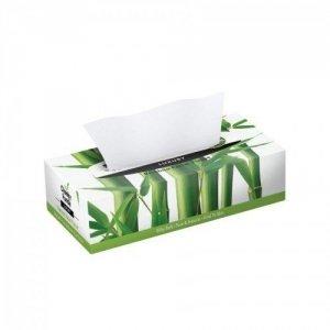 100% Bambusowe Chusteczki do twarzy (uniwersalne) płaskie pudełko