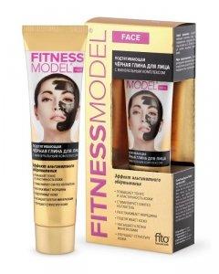 Fito cosmetics - Fitness Model napinająca czarna glinka do twarzy z kompleksem minerałów 45ml