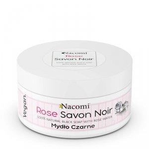 Nacomi - Rose Savon Noir różane czarne mydło z wodą różaną 125g