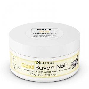 Nacomi - Gold Savon Noir złote czarne mydło z oliwą z oliwek 125g