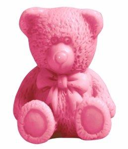 Laq - Happy Soaps Różowy Mały Miś naturalne mydło glicerynowe Wiśnia 30g