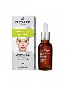Floslek - Dermo Expert Anti Acne normalizujący peeling kwasowy na noc 30ml