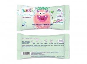 Booboo - Micelarne chusteczki nawilżane z wodą aloesową dla dzieci 60szt