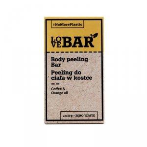 Love bar - Body Peeling Bar peeling do ciała w kostce Kawa & Pomarańczowy Olejek 2x30g
