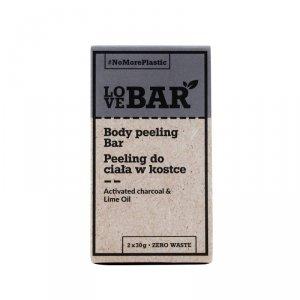 Love bar - Body Peeling Bar peeling do ciała w kostce Węgiel Aktywny & Limonka 2x30g
