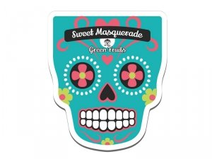 Dr. mola - Sweet Masquarade Green Fruits Sheet Mask oczyszczająca maseczka w płachcie 23ml