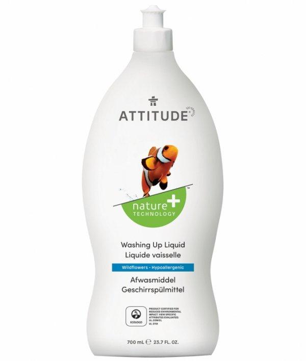 Attitude, Płyn do mycia naczyń, Kwiaty Polne (Wildflowers), 700 ml