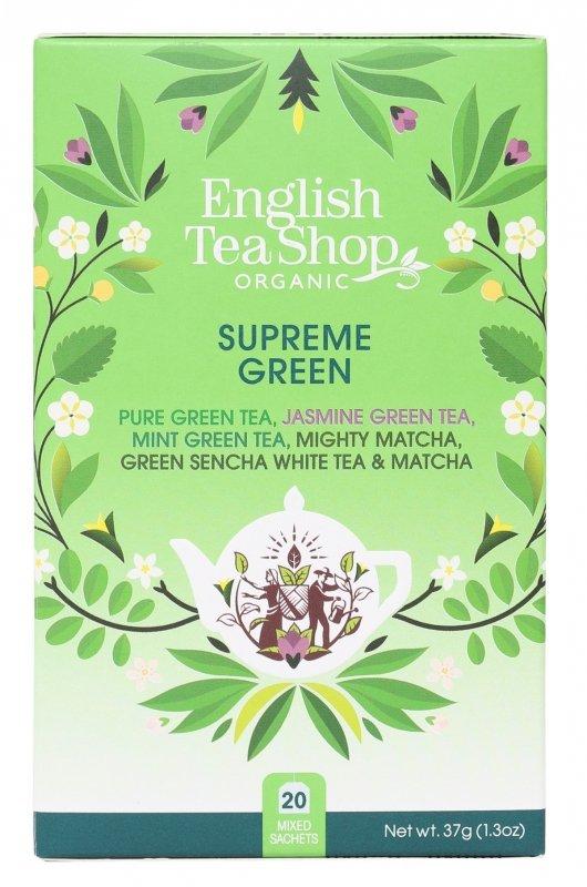 English Tea Shop, Herbata Mix Smaków, SUPREME GREEN, 37g