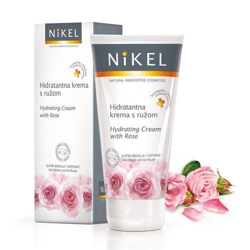 NIKEL, Nawilżający krem do twarzy z Różą, 50ml
