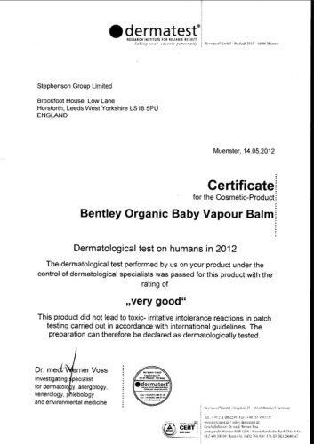 Bentley Organic, Dziecięcy ORGANICZNY Balsam Ułatwiający Oddychanie - Na Przeziębienia, 50 g