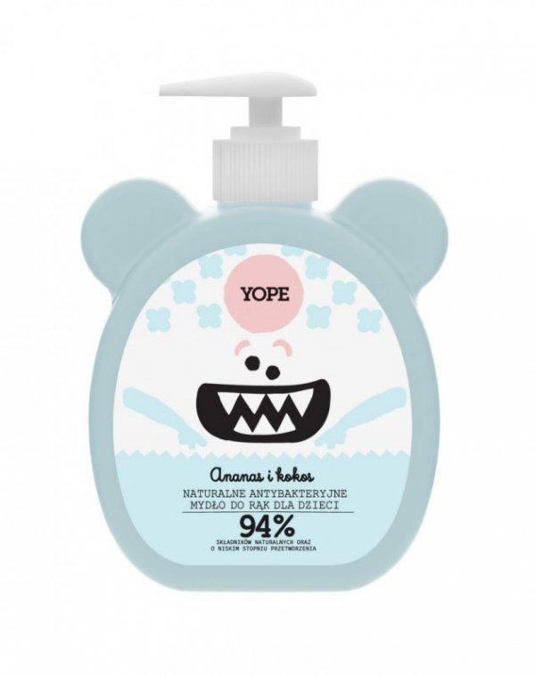 YOPE Naturalne antybakteryjne mydło do rąk dla dzieci ANANAS I KOKOS 400ml