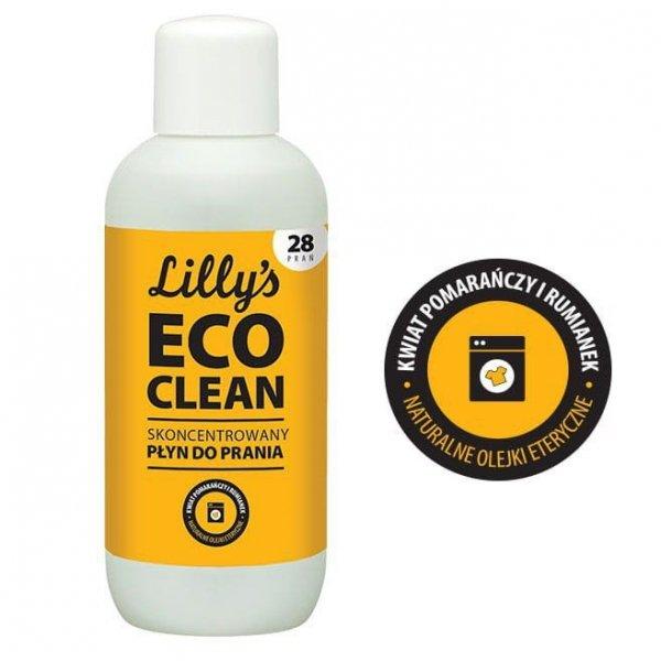 6x LILLY'S ECO CLEAN Skoncentrowany płyn do prania z olejkiem z kwiatu pomarańczy i olejkiem rumiankowym 1000ml