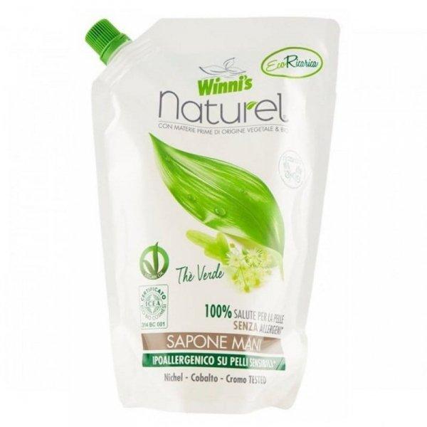 Winni's Mydło do mycia rąk z ekstraktami organicznymi z zielonej herbaty brzozy i aloesu 500 ml uzupełnienie