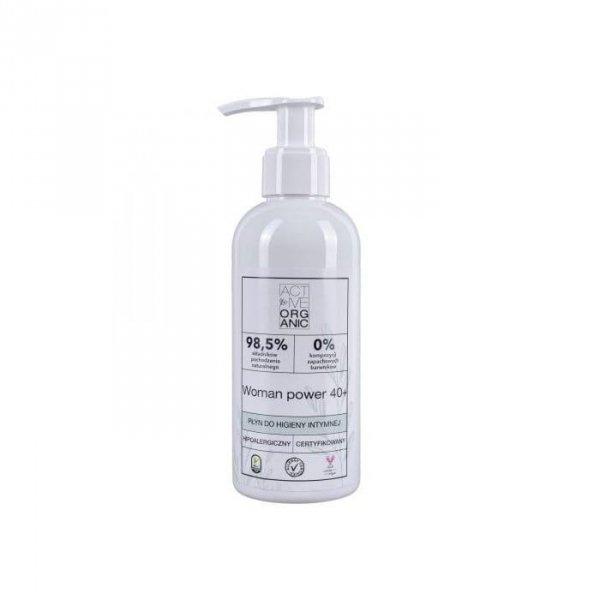 ACTIVE ORGANIC Płyn do higieny intymnej ACTIVE WOMAN 40+ z pompką 200 ml