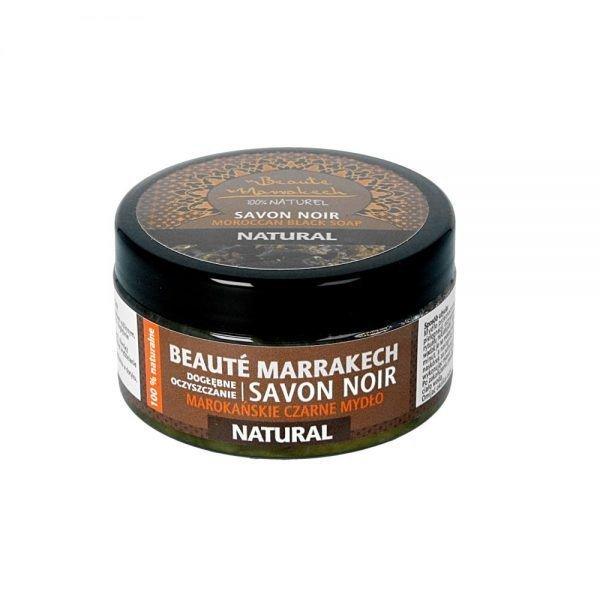 BEAUTE MARRAKECH Czarne mydło Savon Noir Naturalne 100g