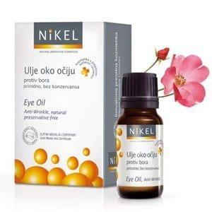 NIKEL Olejek z kwiatów Dzikiej Róży i Passiflora pod oczy niwelujący zmarszczki, rozjaśniający cienie 100% naturalny 10ml