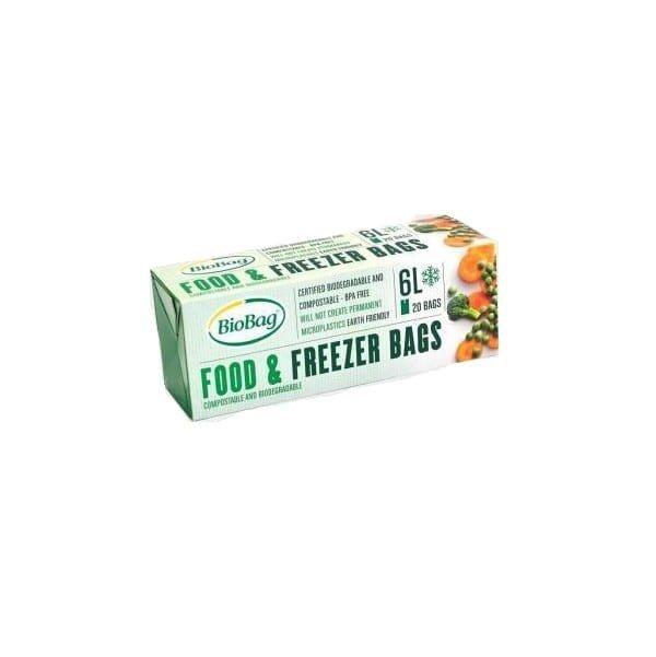 BIOBAG Woreczki do przechowywania i mrożenia żywności bez BPA kompostowalne 6L rolka 20szt