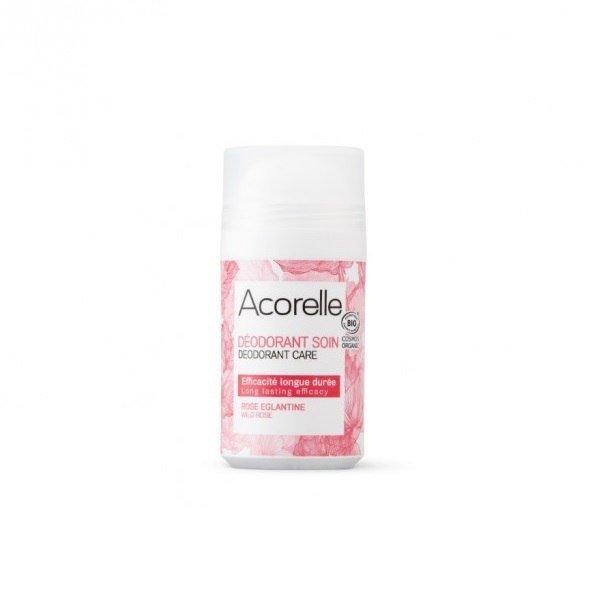 ACORELLE Organiczny dezodorant w kulce Dzika Róża ECOCERT 50ml
