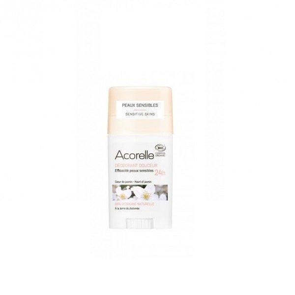 ACORELLE Organiczny dezodorant w sztyfcie z ziemią okrzemkową Heart of Jasmin ECOCERT 45g