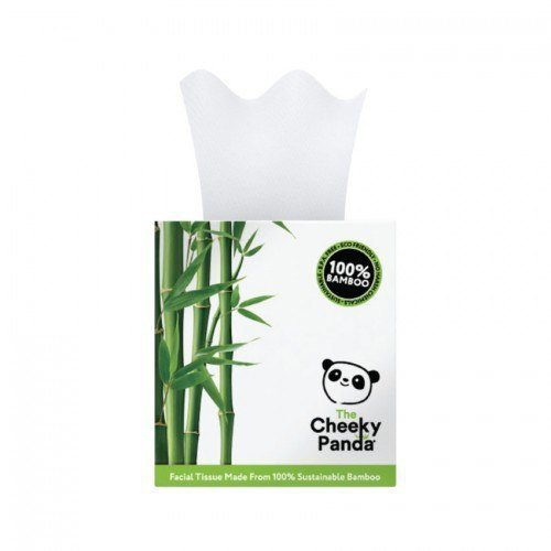THE CHEEKY PANDA 100% Bambusowe Chusteczki do twarzy (uniwersalne) pudełko kostka